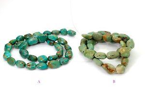 Genuine Natural Arizona Turquoise Smooth Nugget Chip Loose Gemstone Beads PGS298