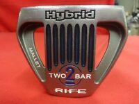 """RIFE Hybrid Two 2 Bar Mallet Putter 35"""" RH Right Handed Winn AVS Oversize Grip"""