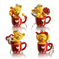 Porte clé ours dans une tasse I love you - Nounours cadeau mignon - bear in mug