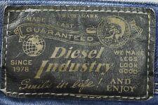 Premium men's Diesel IAKOP blue factory aged slim tapered denim jeans W31 L30