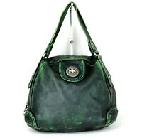 Marc By Marc Jacobs Green Leather Zip Around Ladies Shoulder bag Hand Bag Purse