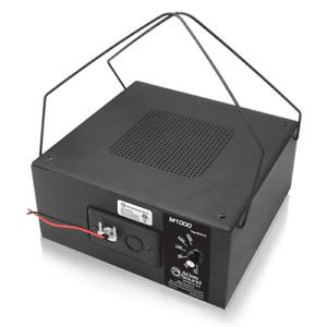 "Atlas Sound M1000 8"" Dual-Cone 4W 70.7V Sound Masking Speaker & Enclosure Black"