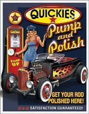 Quickies Get Your Rod Polished Pin Up Novelty TIN SIGN Garage Wall Poster Decor