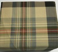 Sheet Set Flannel Queen Size 4PC 100% Cotton Deep Pocket Soft Heavyweight Plaid