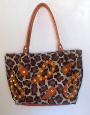Cecconi Piero Pony Calf Hair Animal Print Embellished Purse Handbag
