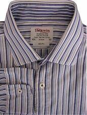 TM LEWIN Shirt Mens 15.5 M Blue & White Stripes SLIM FIT - LIMITED EDITION