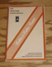 Original 1981 Oldsmobile Cutlass & Cruiser Owners Operators Manual 81