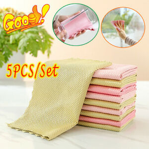 5PCS/Set Fish scale rag--Super absorbent without leaving marks 2021 HIGH QUALITY