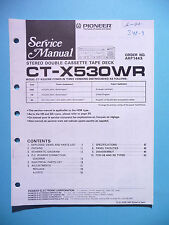 Service Manual Instructions For Pioneer ct-x530wr, Original