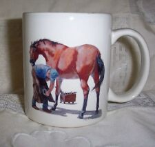 FARRIER AND HORSE COLLECTABLE COFFEE  MUG