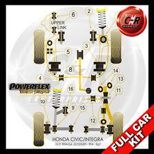 Honda Civic Hatch eg4, Eg5 & Eg6 (92 a 96) Powerflex Negro Completo Bush Kit