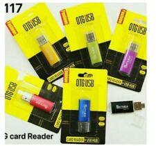 Otg Card Reader + USB HUB #80017 - BLUE