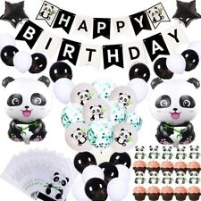 Cute Panda Party Supplies for Kids Birthday Party Baby Shower Party Favor Decora