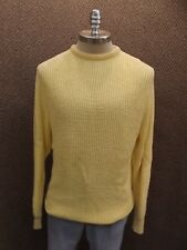 Usa Vtg New Jersild Sporty Casual Yellow Cotton Knit Pullover Sweater Mens L/Lt