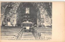 c.1905 Interior Chruch of the Holy Name Crasmoor NY post card Ulster county