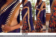 Bollywood Indio Diseñador Sari, sari, con los servicios de costura Blusa