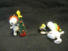 2 Snoopy Ornaments 1-Hockey 1-Tree & Woodstock 1972 *On Sale*