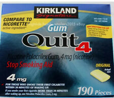 Kirkland Signature Quit 4 mg Gum Nicotine Polacrilex Stop Smoking Aid 190 Pieces