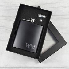 Personalised Engraved Initial Hip Flask - Engraved Wedding Best Man Groom Gift