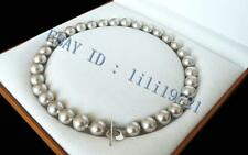 """10mm AAA+ Silver Gray south sea shell pearl necklace 18"""" LL0088"""