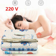 Electric Heated Blanket Throw Bedding Warm Winter Snuggle Rug Caravan Camping