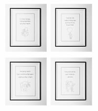 Set of 4 Winnie the Pooh quote A4 print(un framed) Baby/Birth Nursery Picture.