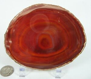 Natural Carnelian Brazilian Agate Polished Slice 80 grams