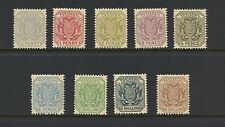 Transvaal 1895/6  #153-61  definitives  REPRINTS  9v.  MNH  I252