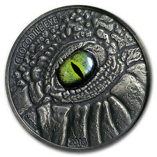 2016 Burkina Faso 1 oz Silver The Crocodile Eye - SKU #104624
