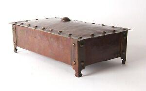 Arts and Crafts Copper Box Unmarked Newlyn Cornish Style Keswick A. E Jones