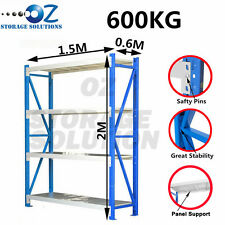 Longspan Shelving Warehouse Racking Garage Storage Shelves 2M x 1.5M x 0.6M