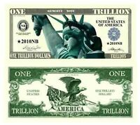 Trillion Dollar Novelty Dollar Bills - Pack of 100