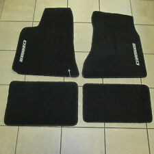 DODGE Charger RWD Floor Mats Black Front & Rear DARK Slate Gray NEW OEM MOPAR