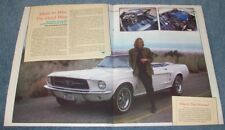 """1967 Ford Mustang Convertible Vintage Article """"Made To Win, The Hard Way"""""""