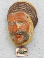 Bossons Ornament Head Decorative Vintage Persia Figure Wall Mount Hand Painted