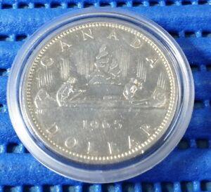 1965 Voyager Canada Dollar Silver Coin