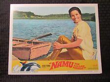 "1966 NAMU THE KILLER WHALE Original 14x11"" Lobby Card #2 5 FN/FN+ LOT of 2"