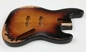 Allen Eden® Nitro Relic Series DIY Alder JBass Body HSH 3 Tone Sunburst