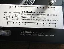 2 x Technics decal stickers 1210 MK2 - custom BLACK - for 2 turntables