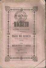 G. VERDI_MACBETH / MELODRAMMA IN 4 PARTI_LIBRETTO_PRIMA TORINO REGIO TEATRO 1851