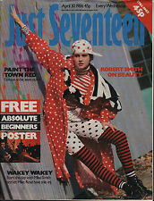 Just Seventeen Magazine 30 April 1986    Madonna    Robert Smith of The Cure