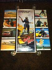 Mad Max Original 14x36 Insert Movie Poster & 8x10 Lobby Card Set Of 8 1980