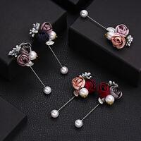 Stoff Stift mit Schal Perle Accessoires für Mode Schmuck Besen Pins für Brosche