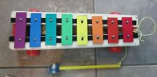 Vintage Fisher Price 1964 Xylophone pull toy Pull A Tune Works Great!