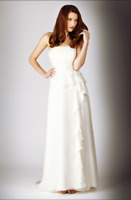 Coast Ivory Bridal April Silk Pleated Frill Wedding Gown Party Dress UK 10 £495