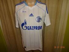 """FC Schalke 04 Adidas Ausweich Trikot 2010/11 """"GAZPROM"""" Gr.S- M TOP"""
