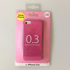 boîtier ULTRA MINCE 0.3 Pochette de protection pour apple iphone 5 5S ROSE Puro