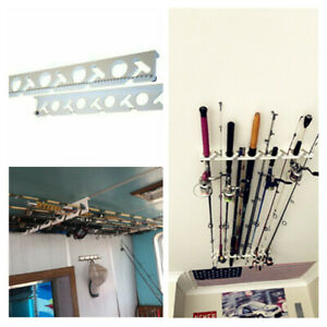 Wall Ceiling Fishing Rod Storage Holder Rods Rack Organizer 10 Rods