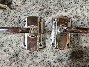 Vintage retro yale silver Reclaimed Door Handles pair 1950's 1960's