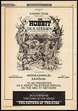 THE HOBBIT__Original 1976 Cannes Trade AD/ poster__THE RETURN OF THE KING__1977